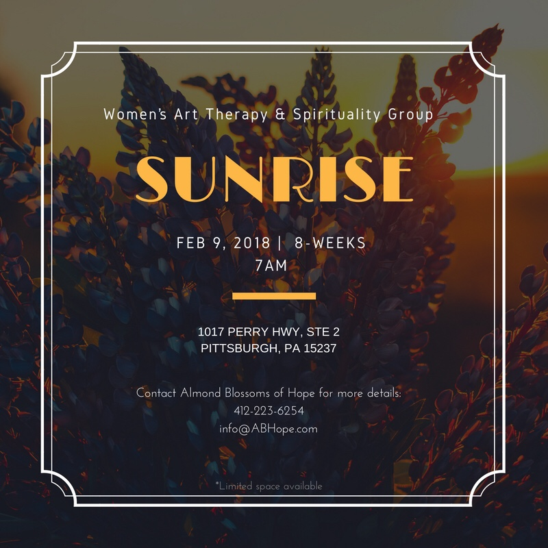 Sunrise womens art therapy spirituality group sunrise is a womens art therapy and spirituality group that will support members with establishing and exploring daily intentions and goals solutioingenieria Image collections